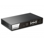 DrayTek VigorSwitch P1100 8 poorts Gigabit PoE switch